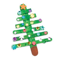 Paddle pop stick craft gone festive! This is one the kids can do without you.