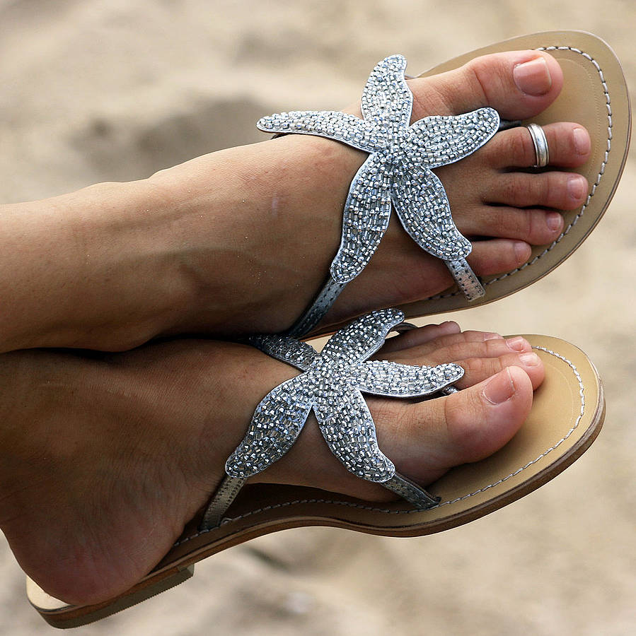 beach wedding sandles!
