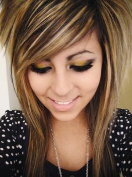 blonde highlights in brown hair samples