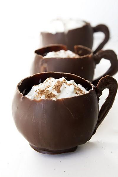 hot chocolate — chocolate mugs!