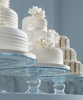 White white wedding cake
