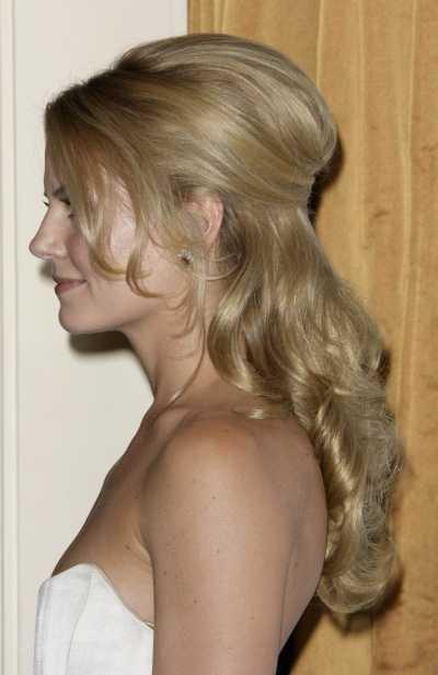 Jennifer Morrisons elegant long hairstyle