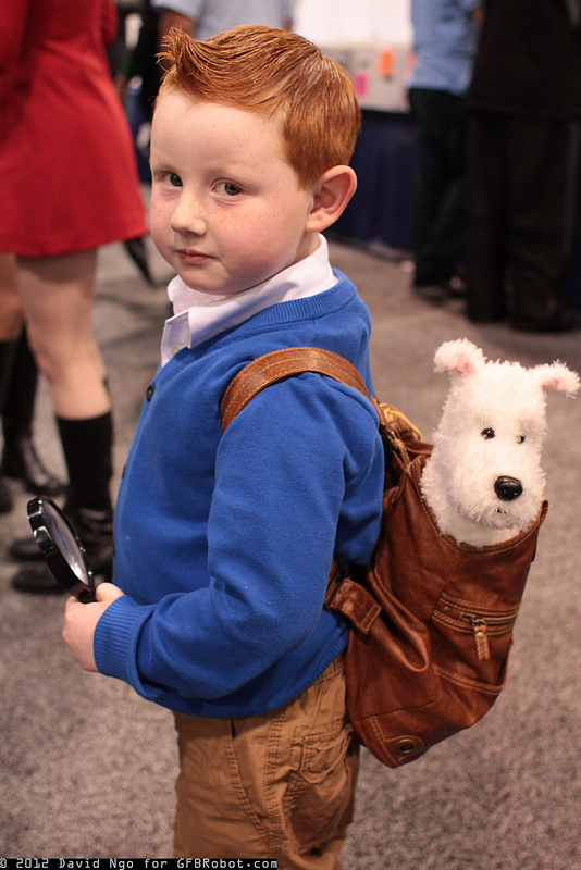 Best cosplay ever Tin Tin! Love it. I love Snowy in the backpack.