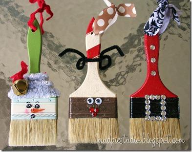 Paintbrush Ornaments- too cute