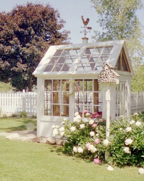 Another greenhouse out of recycled windows.
