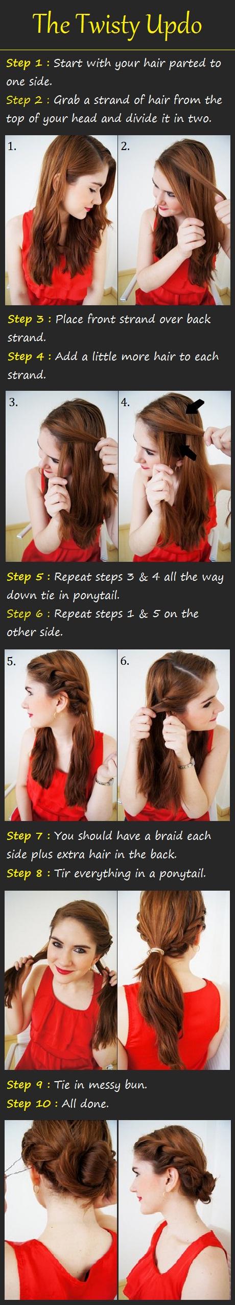 literally 100s of hair tutorials! – The Twisty Updo Tutorial