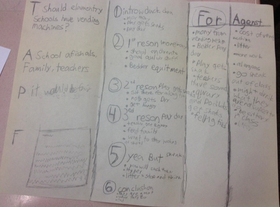 Graphic Organizer for Persuasive Writing … Have your students fold a blank pie