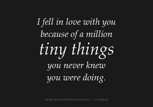 All the tiny things