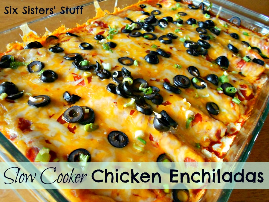 Slow Cooker Chicken Enchiladas – Six Sisters' Stuff