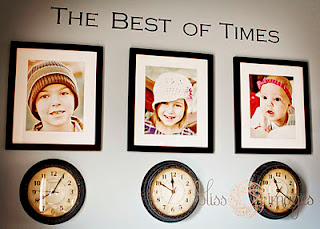 BEST iDEA EVER!!!! Stop the clock under each child's picture at the time the