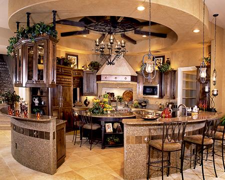 round kitchen…kinda neat