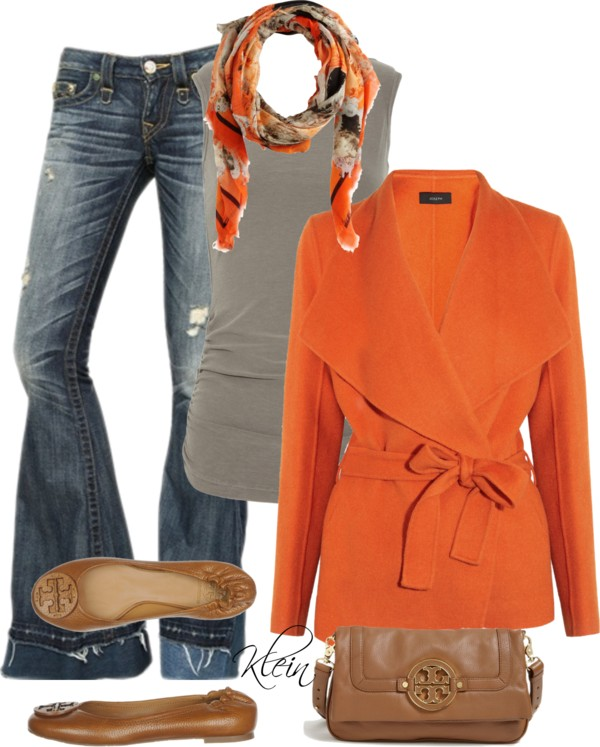 """""""Fall Outfit: Orange"""""""