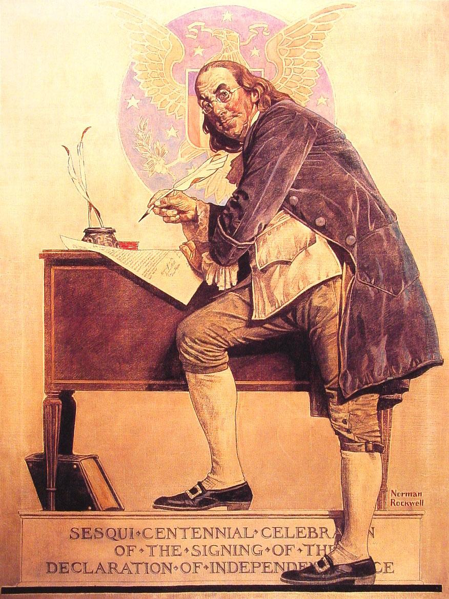 "Norman Rockwell ""Benjamin Franklin Sesquicentennial"""