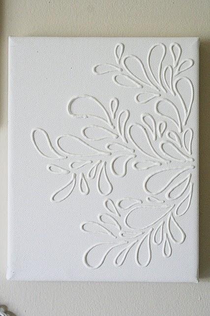 Texture on canvas – craft glue