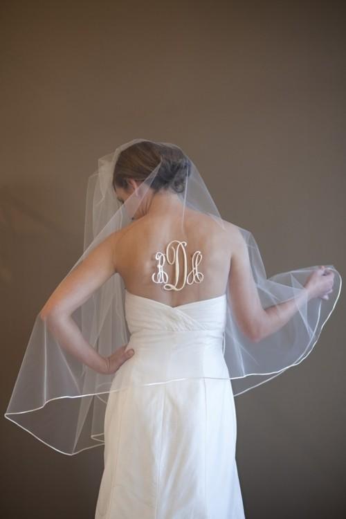being a little srat star on her wedding day  #monogramsonveils