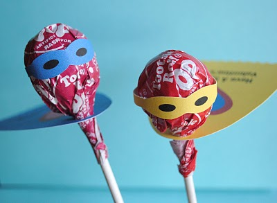 Superhero Birthday lollipops