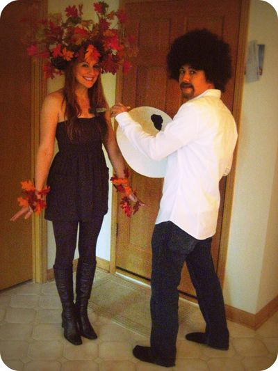 Bob Ross + Happy Tree = Hilarious Couple Costume