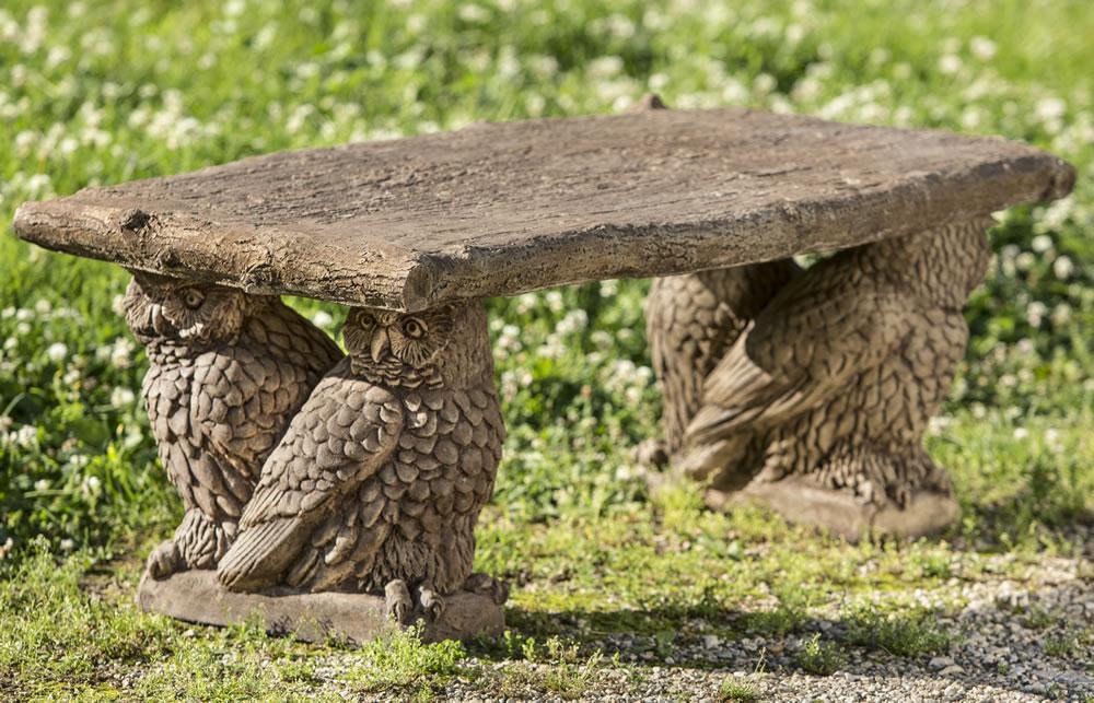 {Owl Bench Cast Stone Garden Bench} my garden wants this!