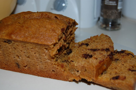 Chocolate chip pumpkin bread — just what my kids would want! #fall #pumpkin #br