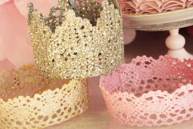 lace crowns ~ starch and lace