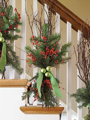 Deck the Banister – 50 Easy Holiday Decorating Ideas.