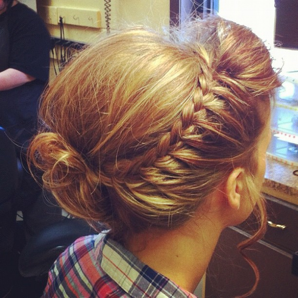 Upside down waterfall braid?