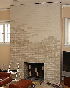 painting fireplace bricks