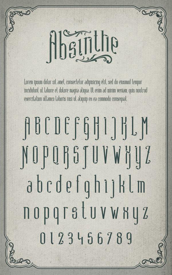 Absinthe-Free Font