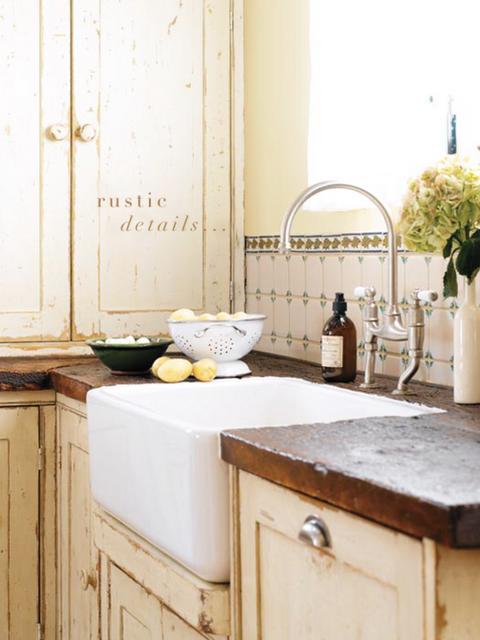 Love rustic kitchens