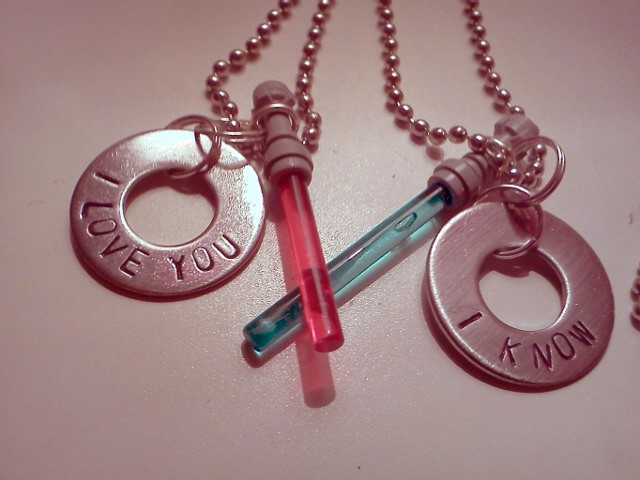 Nerd Love of the Day: Han and Leia Necklaces
