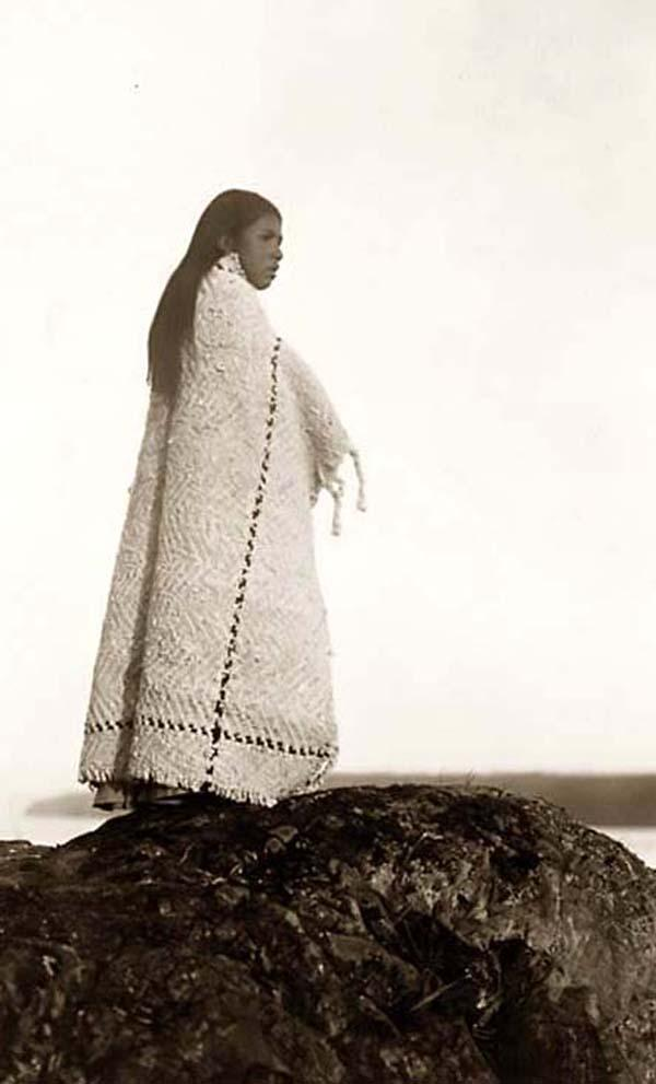 Here we present a stunning image of a Cowichan Girl. It was taken in 1913 by Edw