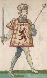 Robert II (1316 – 1390). King of Scotland from 1371 to his death in 1390. He was