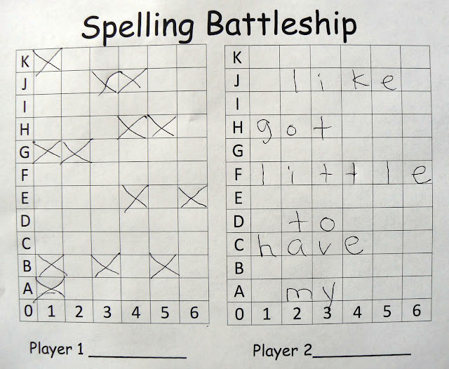 spelling battleship— could also do with word families or CVC/CVCe words.
