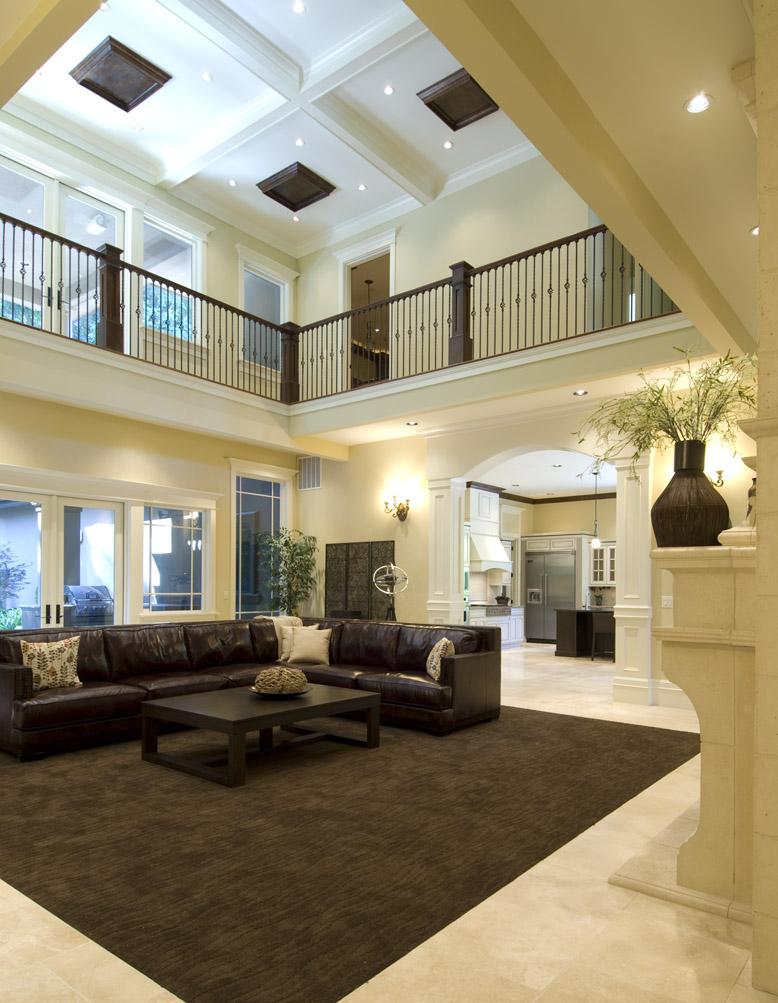 Open living room. Love the light.