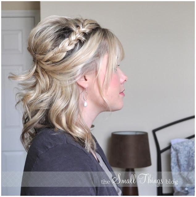 Half French Braid Half Up #hair