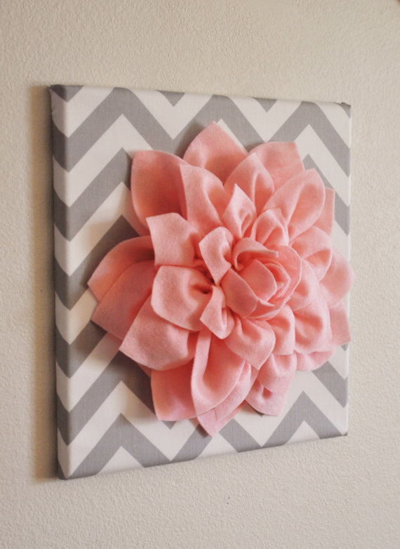 Adorable DIY Wall Art — Fabric Flower