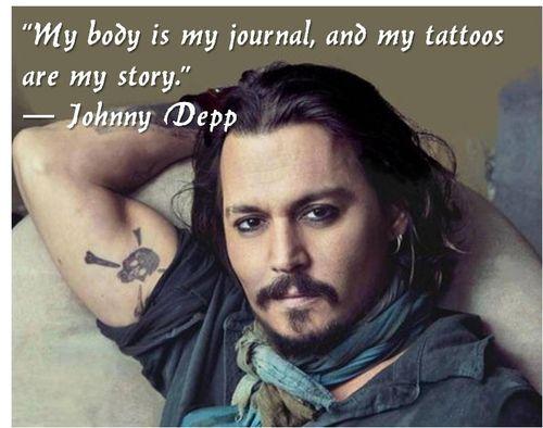 Johnny Depp Quote (johnny depp,quote,tattoo,body art)
