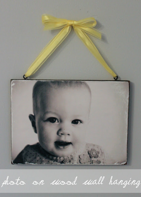 Just print off any picture you want, then spray paint a piece of wood black, cut