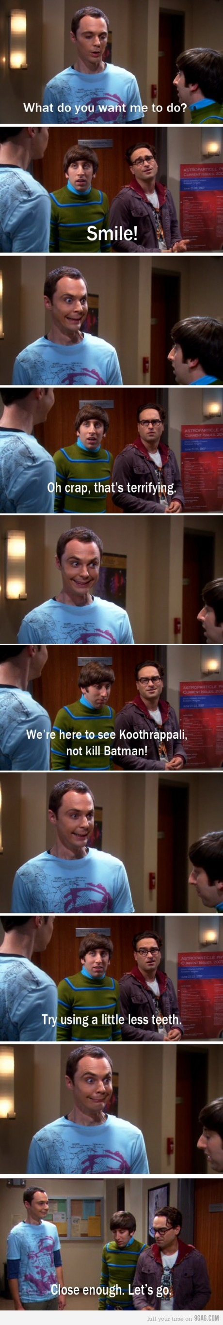 Smile, Sheldon!