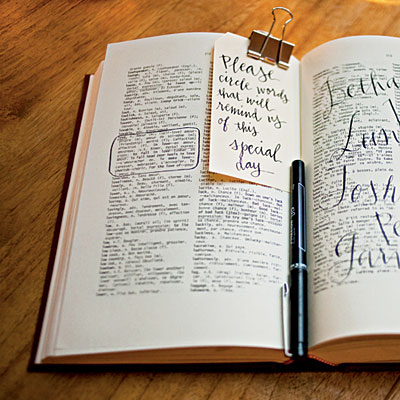 Wedding day Bible that guests can circle their favorite verses or verses that th