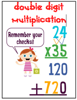 double digit multiplication using colors