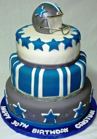 Dallas Cowboys Tiered 30th Birthday Cake
