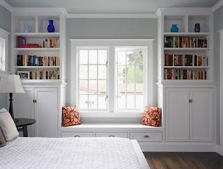 built-in window nook