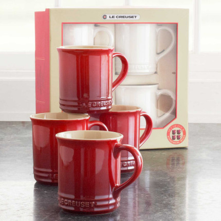 I love these Le Creuset mugs and have them in several colors.