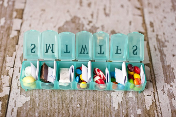 SO cute! 7 Days of love – great suprise to pack in the hubby's suitcase.