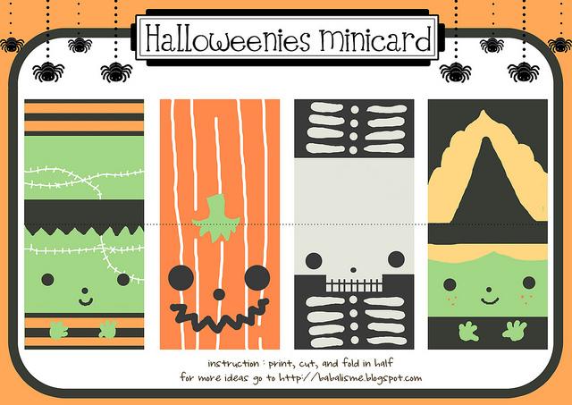 Halloween card printable.