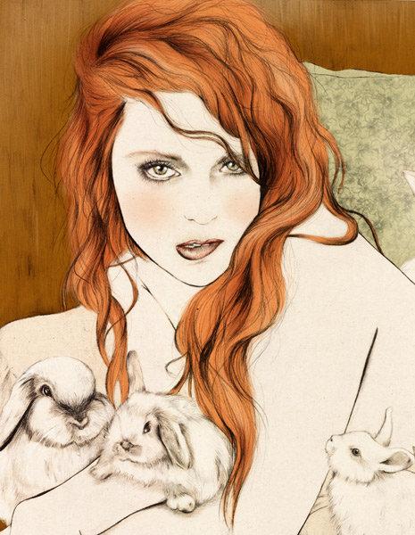 Red head illustration