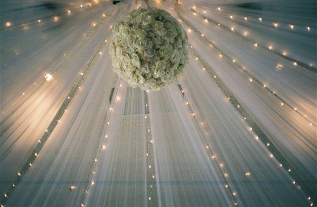 Tulle wedding decorations