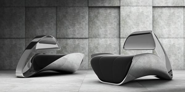Esto es una silla moderna