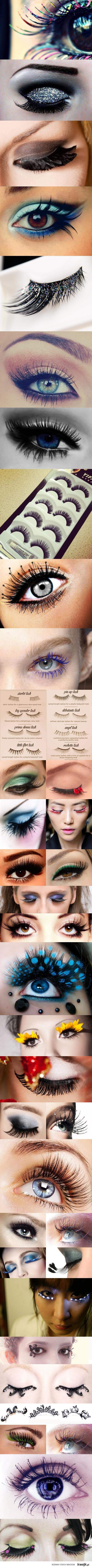 costume lashes & eye makeup